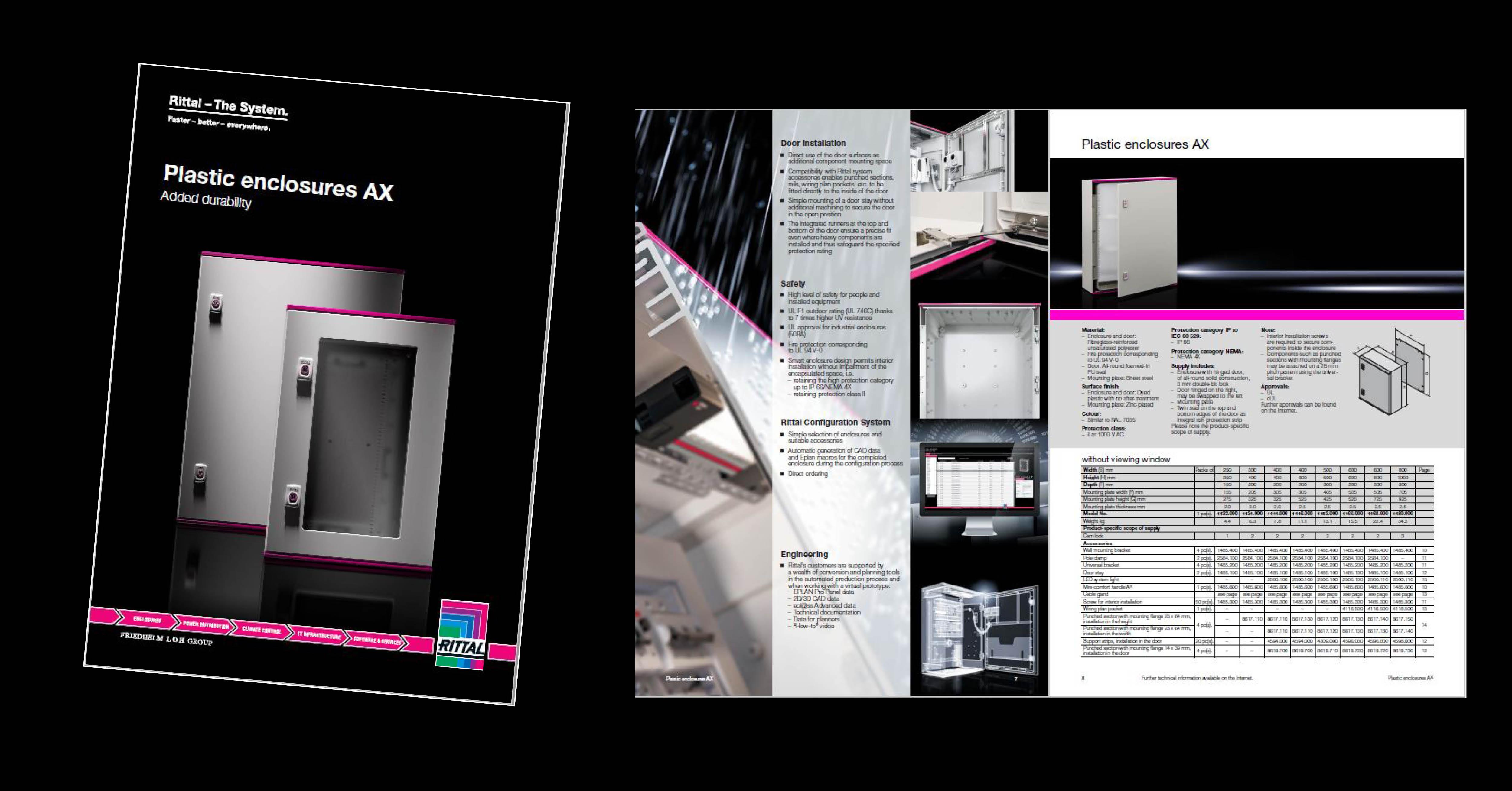 new ax plastic brochure LP